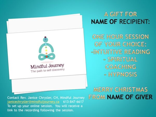 gift certificate for services