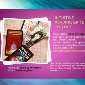 intuitive reading gift certificate