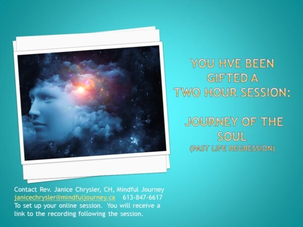 gift certificate for Journey of the Soul
